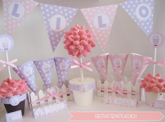 decoracion cumpleaños lechuzas