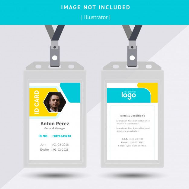 Id Card Design Cards Card Design Id Card Template