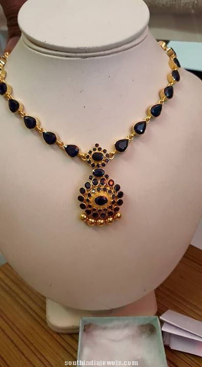 Gold Sapphire Necklace Design Sapphire Necklace Gold