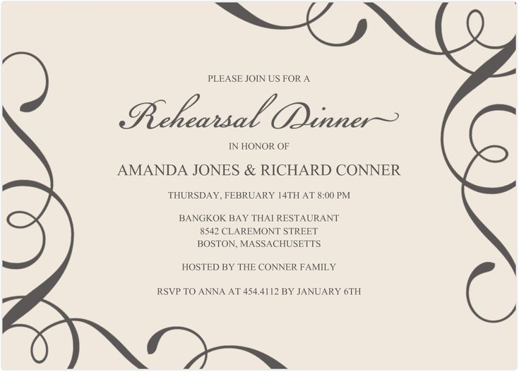 Best 25+ Rehearsal Dinner Invitation Wording Ideas On Pinterest   Free  Dinner Invitation Templates Printable  Formal Dinner Menu Template