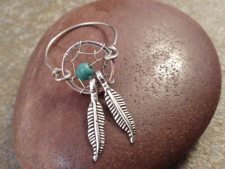 Dream Catcher Ring with Feathers. $15.00, via Etsy.