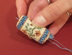 Miniature needlepoint tutorial -