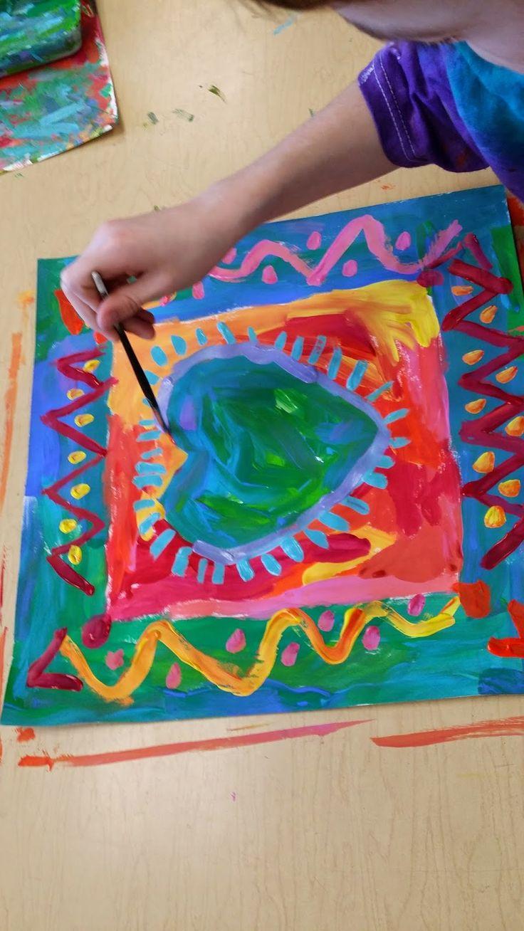 Third Grade Peter Max Hearts