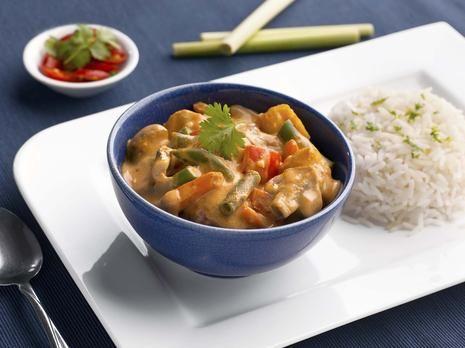 Gluten Free Thai Red Veggie Curry with Tofu