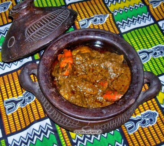SAUCE GRAINE A LA VIANDE DE BOEUF | Recettes Ivoiriennes. Cuisine d'Afrique et d'ailleurs. Par Marie-Reine.