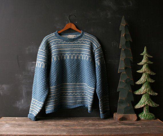 """The tag says """"Husfliden Bergen 100 % Norwegian wool""""."""