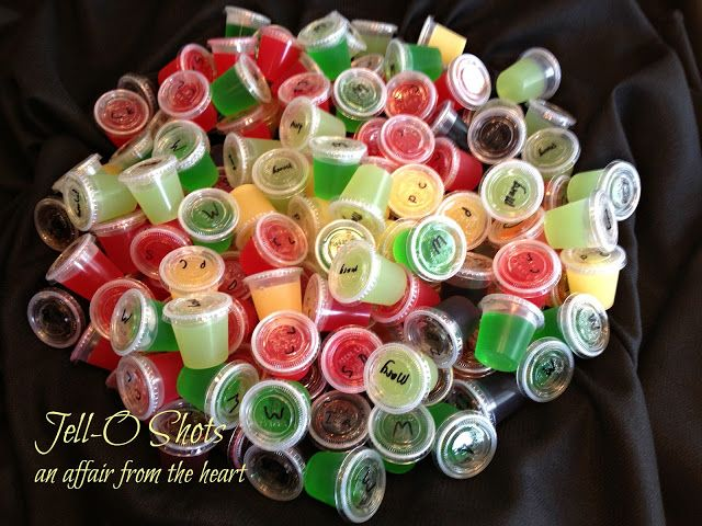 an affair from the heart: Jell-o Shots -- 8 Different Flavors!!