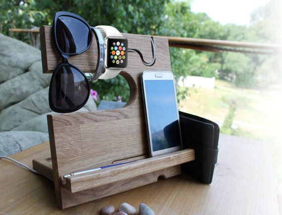 Christmas Present - Apple Watch Dock Apple Watch Dock, Apple Watch Stand, Apple Watch Station, Apple Watch / iPhone / iPad, gifts for men