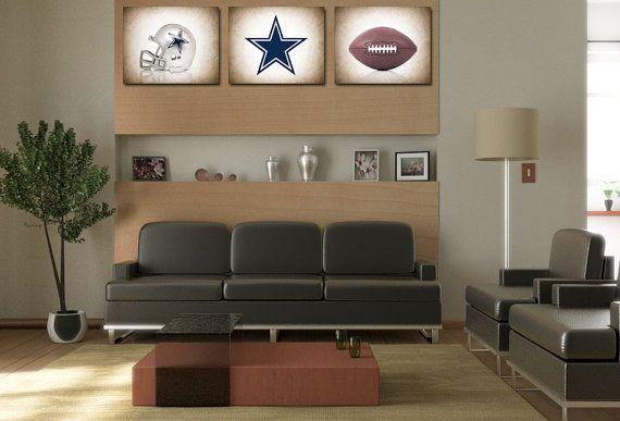Discount set of 3 Dallas Cowboys photo print,boys room decor,kids room decor,dallas cowboys,football decor,cowboys decor,football wall art