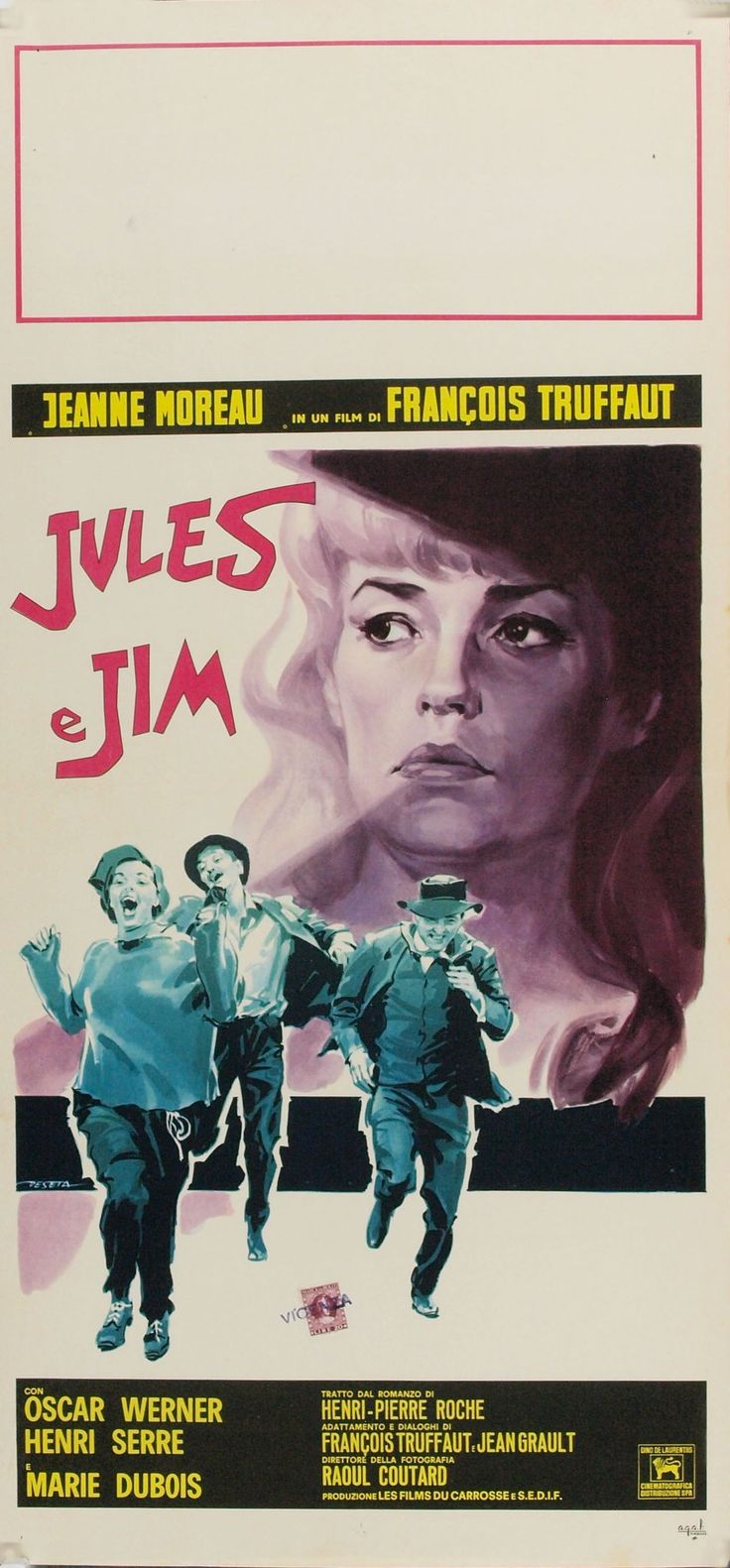 """via #IVPDA member Movie Art """"This is a smallish Italian poster called a locandina.  https://www.movieart.com/jules-et-jim-1962-8028/ For Jules And Jim, the #truffaut masterpiece.  Gift season is here!  MovieArt has film posters."""" #MoviePosters #VintagePosters"""