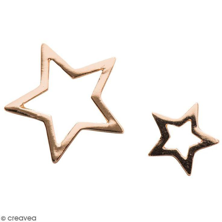 Compra nuestros productos a precios mini Set de colgantes Estrellas de metal - Dorado - 2 uds - Entrega rápida, gratuita a partir de 89 € !