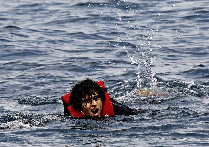 Image result for lesbos refugees