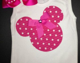 Red and White Polka Dot Minnie Mouse Tank Top by kWilhelmina