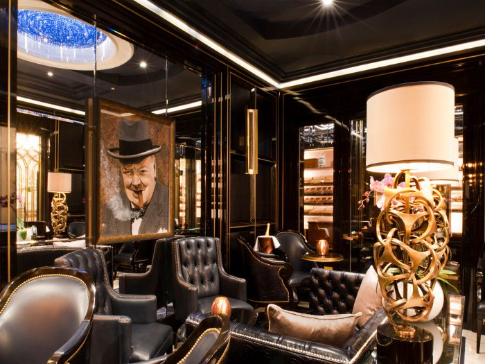 Cigar Lounge Furniture | Cigar Lounge, styled with the air of a gentlemen's club with furniture ...