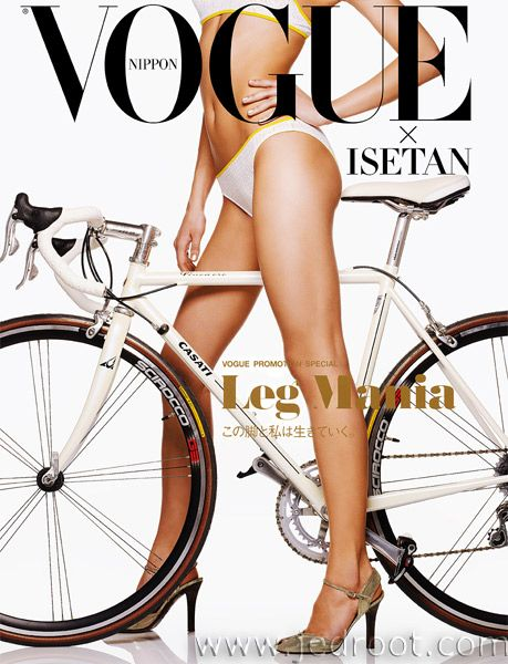 How to go faster on a bike? Wear the right shoes! #vogue