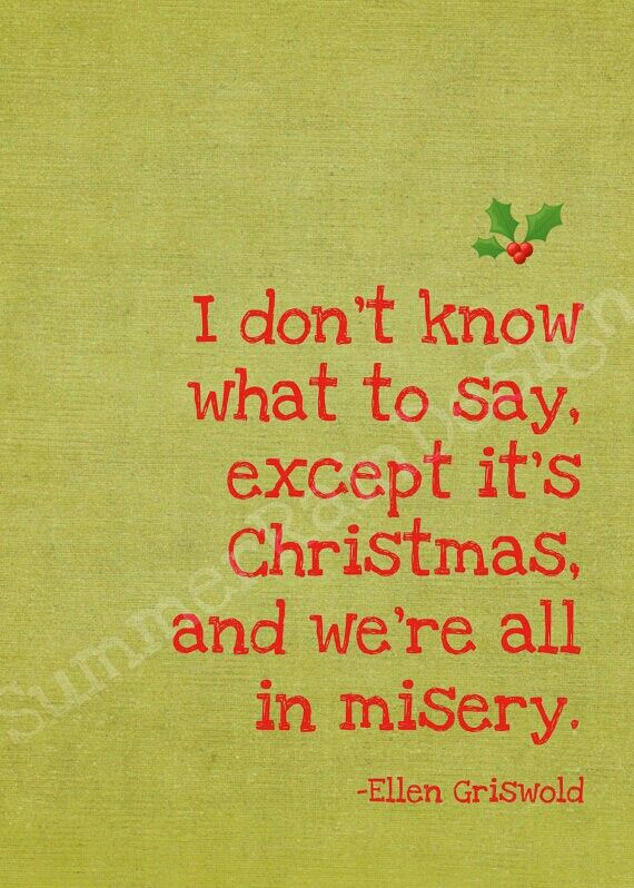 Christmas Vacation truth.
