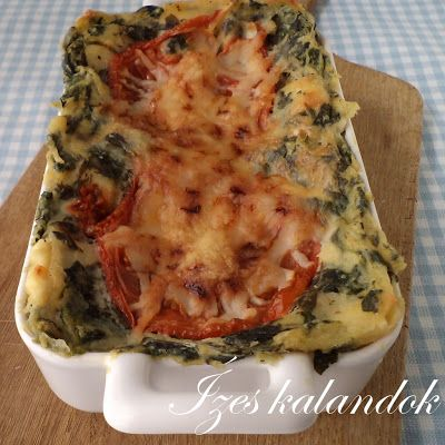 Ízes kalandok: Spenótos-túrós lasagne