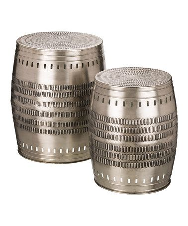 This Two Piece Silver Garden Stool Set Is Perfect! #zulilyfinds