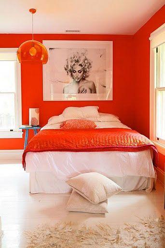 paint color portfolio orange bedrooms - Orange Teen Room Decor