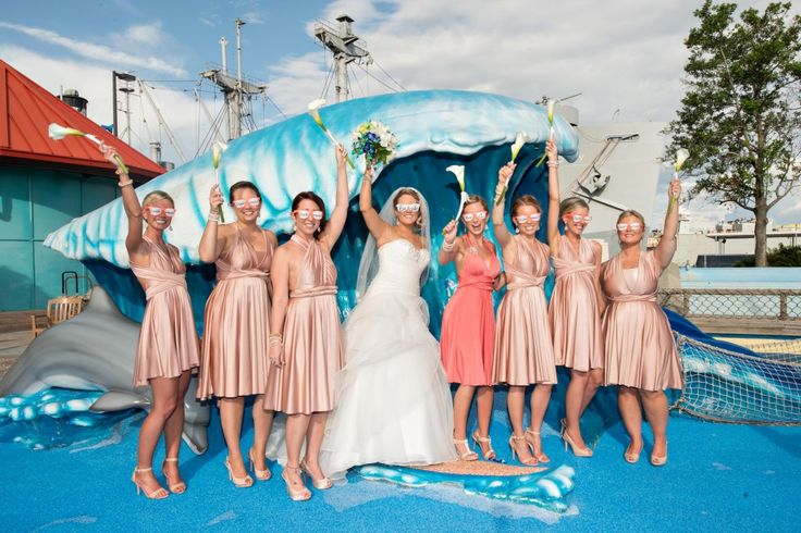 Florida Beach Wedding With Aquarium Reception: 137 Best Images About Wedding Party On Pinterest