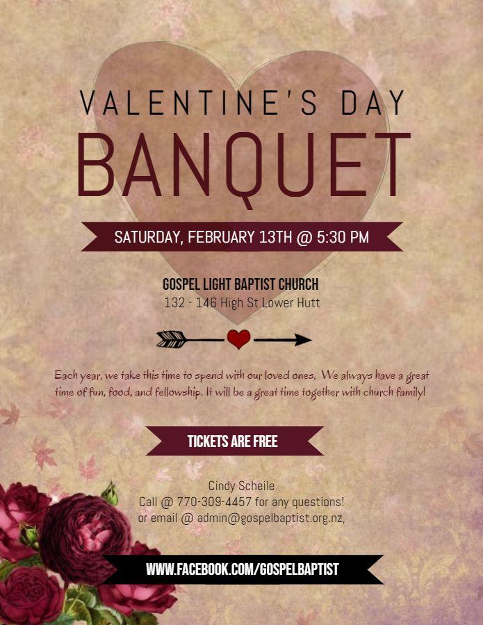 valentine s day banquet dinner flyer template banquet invitation
