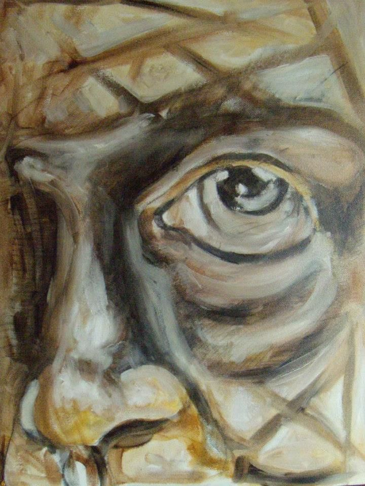 """Satisfaction"" - olio su tela  -  40x30 - 2008 -"