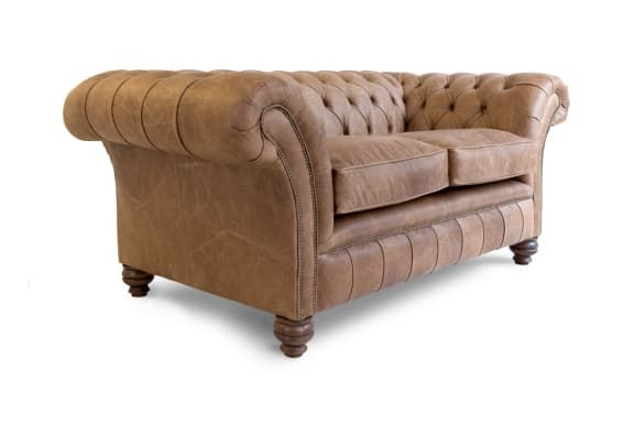 A Distinctive Curved Arm Chesterfield Sofa In Leather Uk Sofas Sofa Handmade Chesterfield Sofa Sofa Uk