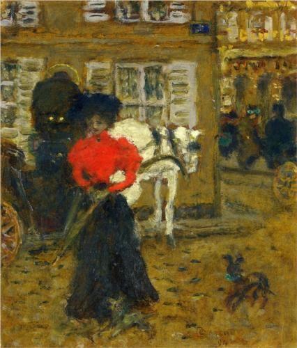 Woman on the Street - Pierre Bonnard: Bonnard 1894, Bonnard Stone, Bonnard Woman, Art Pierre, Artists Tempera, Les Nabi, Wikiart Org, 1894 Pierre, Pierre Balmain