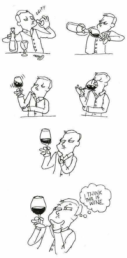 asi degusto los vinos yumiii :v