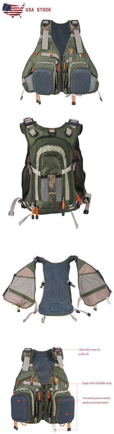 Vests 65982: Muiti-Pocket Fly Fishing Vest Backpack Bag Adjustable Size Mesh Fly Vest Pack -> BUY IT NOW ONLY: $43.99 on eBay!