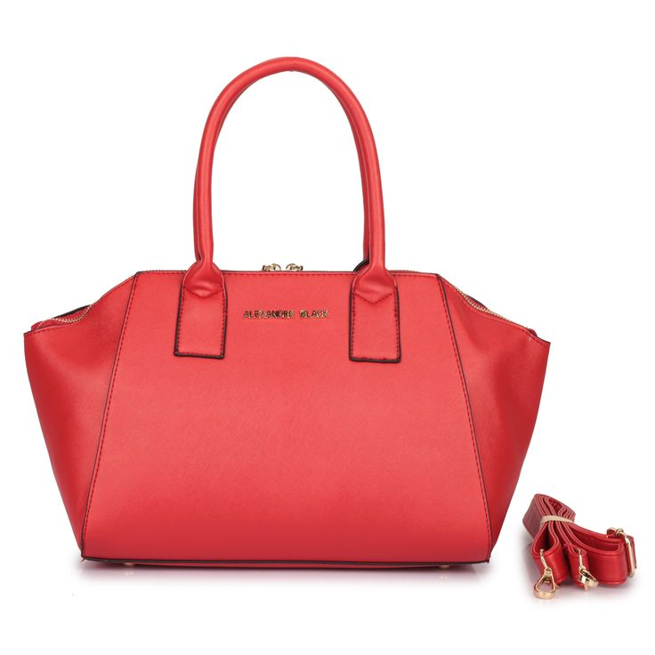 """""""Gina""""...you look so good in red! Compliment your favourite lipstick or outfit with this spicy red tote bag. Available in blue and black also. Get Gina now at www.borsetta.london xx Hols xx"""