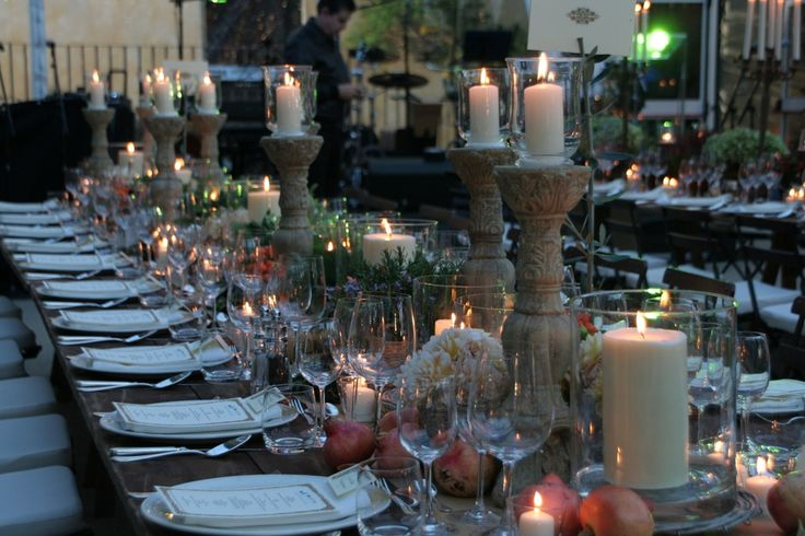 Tuscan Table Decor | Outdoor Party Decoration Ideas | Pinterest | Tuscan  Wedding, Wedding Table Settings And Themed Weddings