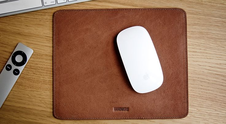 leather Mousepad ∙ HANDWERS // Woolfelt & leather goods