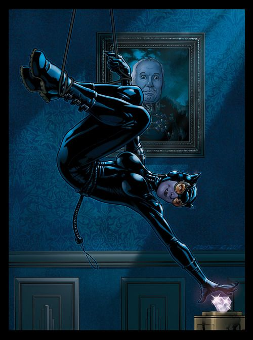 "At first I was like ""Oh, this is a cool picture of Catwoman!"" And then I saw the guy's face in the painting in the background and I just can't XD hahah!"