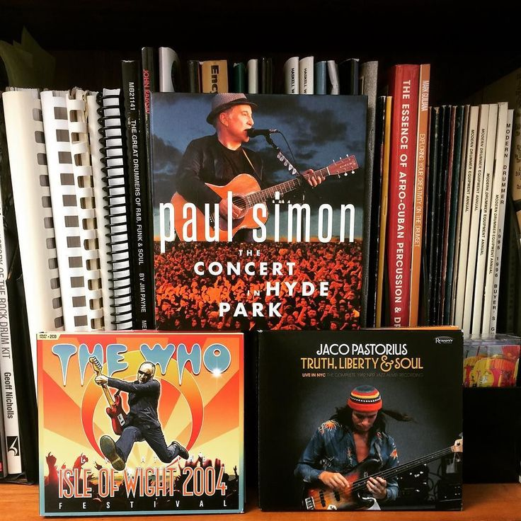 A few cool live collections that you might have missed from the past month or two: Paul Simon's Concert in Hyde Park featuring Jim Oblon and Isaac Mtshali on drums; the Who At the Isle of Wight 2004 Festival with Zak Starkey: and Jaco Pastorius's Truth Liberty & Soul Live in NYC: The Complete 1982 NPR Jazz Alive! Recordings with Peter Erskine. #drums #drummers #moderndrummermagazine ##jimoblon #isaacmtshali #zakstarkey #petererskine