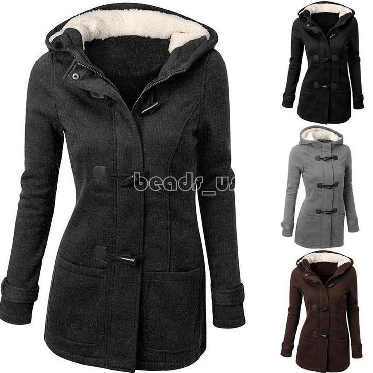 Winter Women Ladies Hooded Coat Wool Overcoat Hoodies Outwear Long Sleeve Tops