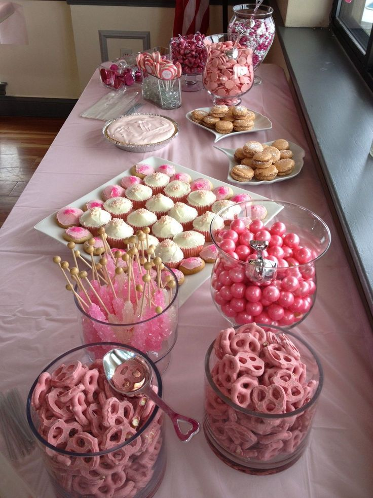 Candy Bar Baby Girl Showergreat Job Theresa Mary And Ellen