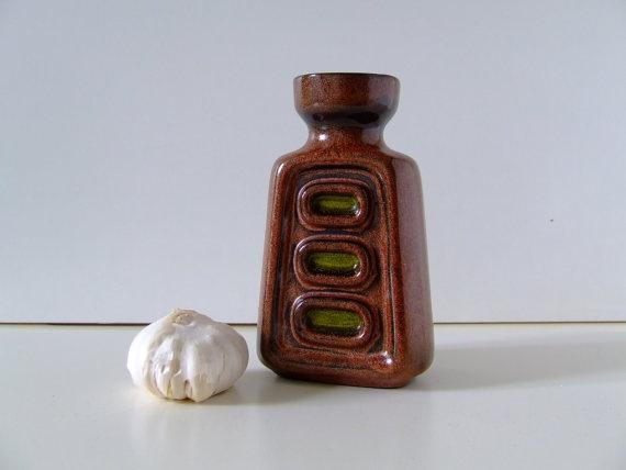 Danish Ceramic Vase - Brown and Green - From Frank Keramik - 70s