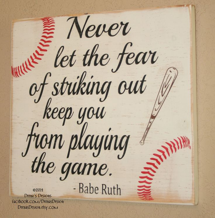 Baseball Decor Sign Quote Wooden Babe Ruth