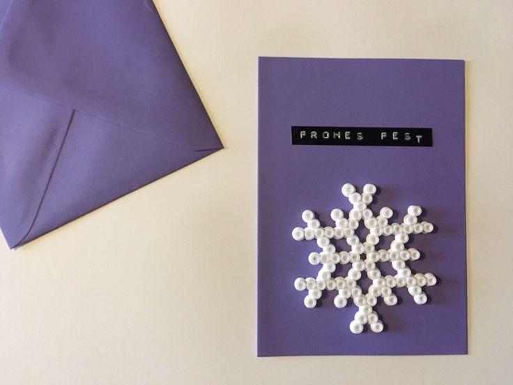 Ein persönlicher Favorit aus meinem Etsy-Shop https://www.etsy.com/de/listing/472794442/weihnachtskarte-mit-schneeflocke-aus