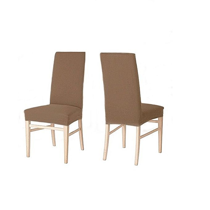 2 Housse Chaise Elastique Grege Dining Chairs Furniture Home Decor