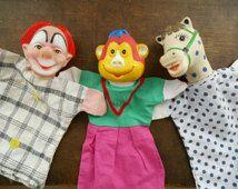 Circus poppenkastpopjes 📌  aap ape monkey puppet horse paard pony glovepuppet