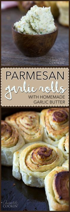 I make these Parmesan Garlic Rolls with my tried and true dinner roll recipe. The garlic butter is amazing and these garlic rolls are irresistible!
