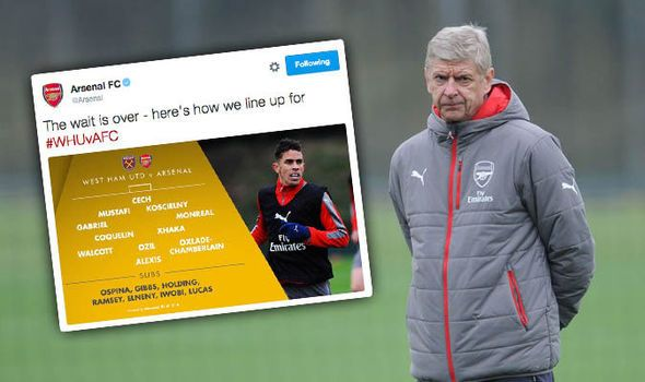 Payet will destroy Gabriel! Arsenal fans react on Twitter to line-up against West Ham   via Arsenal FC - Latest news gossip and videos http://ift.tt/2fWPcyC  Arsenal FC - Latest news gossip and videos IFTTT