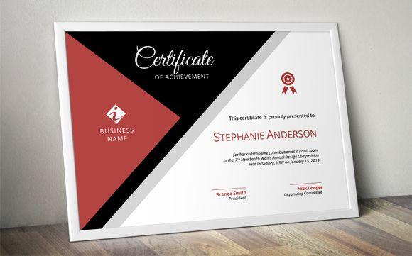 Modern corporate certificate @creativework247