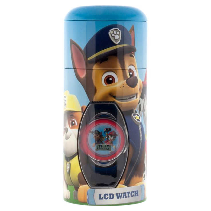 Boys' Paw Patrol Watch with Cylinder Tin Coin Bank, Size: not applicable, Blue