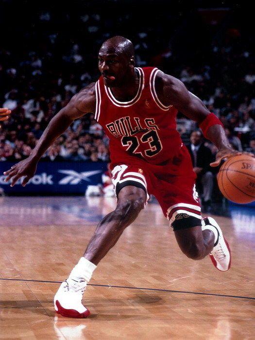 267fc1f42bf4 Michael Jordan Dribbling Chicago Bulls NBA Basketball Gigantic Print POSTER   MichaelJordan  Posters  Art