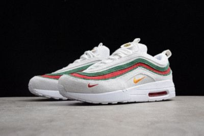 new style bc854 e11ec Gucci X Nike Air Max 97 1 White Red Green