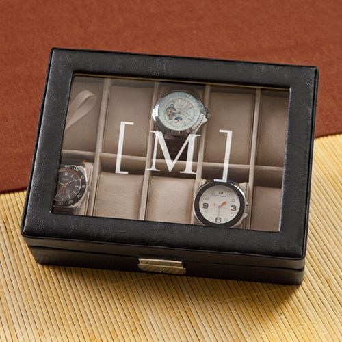 3rd Anniversary Gift Idea - This personalized men's watch box would make a great anniversary gift for your husband