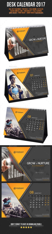 Corporate Desk Calendar 2017 Template PSD